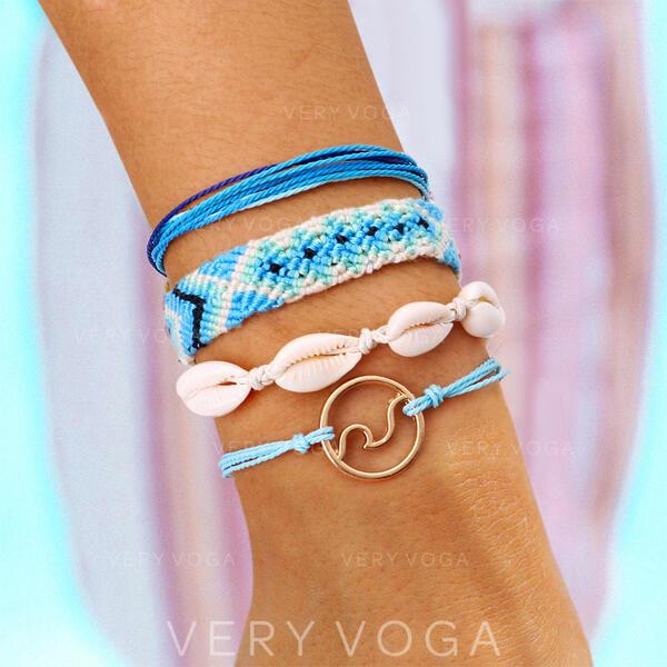 Alloy Jewelry Sets Bracelets (Set of 4 pairs)
