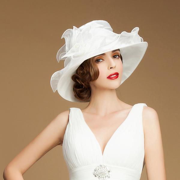 53ed8adbea270 Ladies' Beautiful Organza Bowler/Cloche Hats/Kentucky Derby Hats/Tea Party  Hats