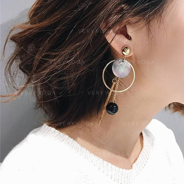 Schale Legierung Frauen Art-Ohrringe