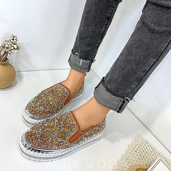Mulheres Espumante Glitter Casual Outdoor com Lantejoulas sapatos
