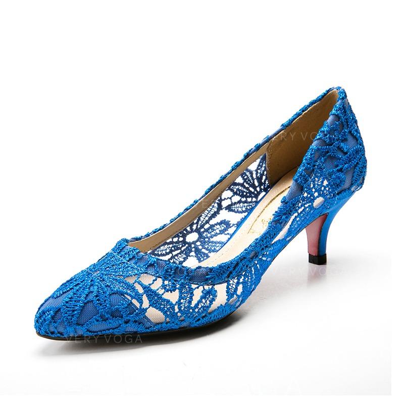 Women S Fabric Low Heel Closed Toe Pumps 047085035